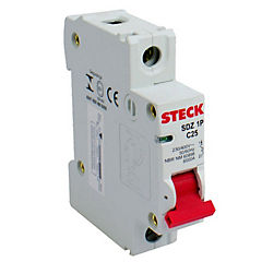 Interruptor automático 1x25 A curva c 230 V 6 KA