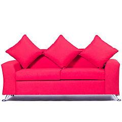 Sofá 2 cuerpos 170x80x80 cm rojo