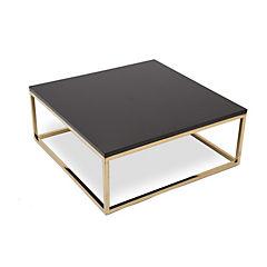 Mesa de centro 80x80x30 cm metal dorado
