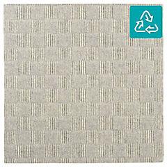 Alfombra 100 % pet palmeta crochet marfil 61x61 5,6 m2