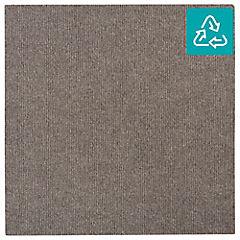 Alfombra 100 % pet palmeta riverside gris pardo 45x45 cm 3,3 m2