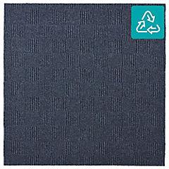 Alfombra 100 % pet palmeta crochet azul 61x61 5,6 m2