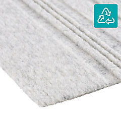 Alfombra 100 % pet palmeta couture gris perla 61x61 5,6 m2