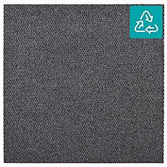 Alfombra 100 % pet palmeta hobnail gris oscuro 45x45 cm 3,3 m2