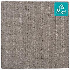 Alfombra 100 % pet palmeta cord gris pardo 45x45 cm 3,3 m2