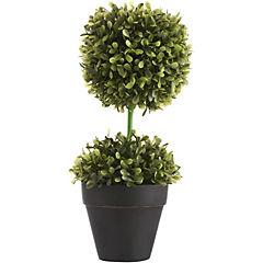 Topiari base ceramica negro/verde 24 cm