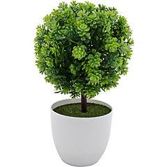 Arreglo topiary base ceramica blanco 24 cm
