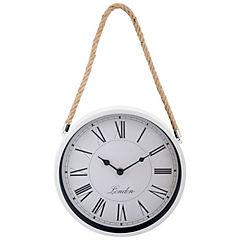 Reloj colgante Soga 25 cm metálico blanco