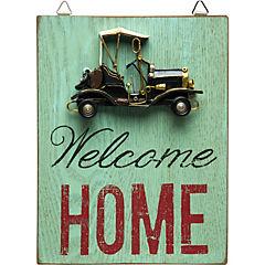 Adorno de pared Welcome Home 18x23,5 cm