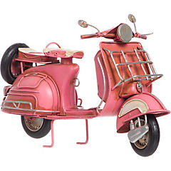 Scooter decorativo 10x26,5x16 cm metal rosa