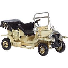 Auto antiguo decorativo 7x17x9 cm madera crema