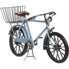 Bicicleta decorativa 14x9x26 cm metal celeste