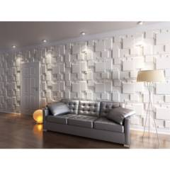 FOKUS HOME - Panel 3D 80x62.5cm Blanco Pintable 3m2