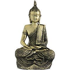Buda resina dorado