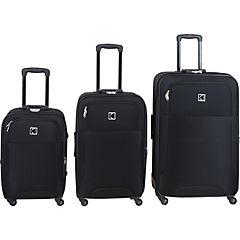 Set de 3 maletas de tela Negro