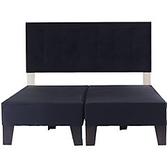 Box europeo 2 plazas + respaldo negro