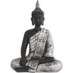 Buda resina plateado