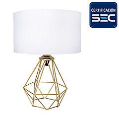 Lámpara de mesa Geométrica pantalla blanca
