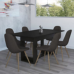 Juego de comedor 6 sillas 74x160x85 cm