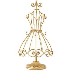 Maniqui costura metal dorado
