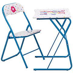Escritorio + silla plegable niña