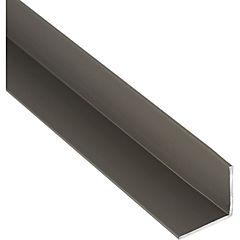 Pack ángulo aluminio 15x15x1 mm titanio  6 m, 6 unidades