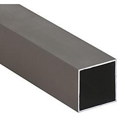 Pack tubular aluminio 25x25x1 mm titanio  6 m, 6 unidades