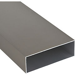 Pack tubular regla aluminio 75x25x1 mm titanio  6 m, 6 unidades