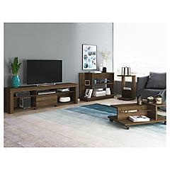 Set rack de TV + mesa de centro + arrimo + mesa lateral Cedro