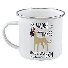 Tazón enlozado gran danés café