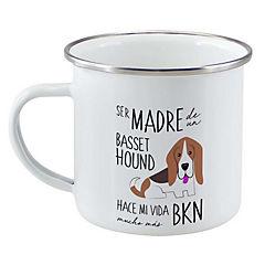 Tazón enlozado basset hound