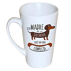 Tazón cónico salchicha café