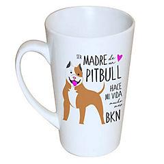 Tazón cónico pitbull café