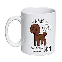 Tazón cerámico poodle café
