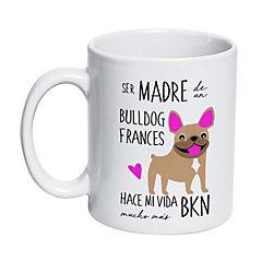 Tazón cerámico bull dog francés café