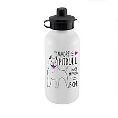 Botella sport pitbull blanco
