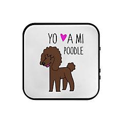 Parlante bluetooth poodle café