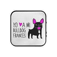 Parlante bluetooth bull dog francés negro