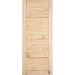 Pack puerta amadeuss 4 tableros natural 200x85, 5 unidades