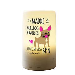 Humidificador bull dog francés café