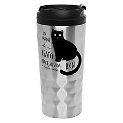 Mug diamantado gato negro
