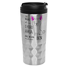 Mug diamantado chihuahua blanco