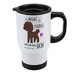 Mug 410cc poodle café