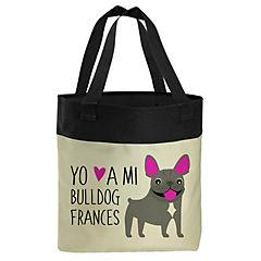 Bolso bull dog francés gris