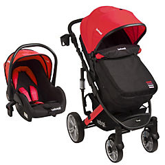 Coche travel system quest Negro/Rojo