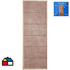 Kit puerta con marco terciado reforzada en HDF 70x200 cm