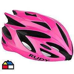 Casco bicicleta Cerro Liviano Rush Talla S Color Rosado Fluor