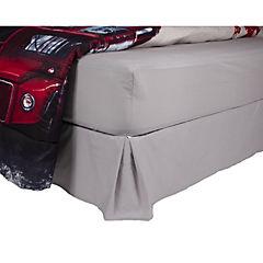 Plumón bus + sábana + faldón gris 1,5 plazas