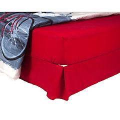 Plumón bicicleta + sábana + faldón rojo italiano 2 plazas
