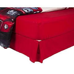 Plumón bus + sábana + faldón rojo italiano 2 plazas